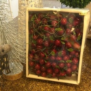 Other - Farmhouse Style Red Plastic Cherries for DIY Decor